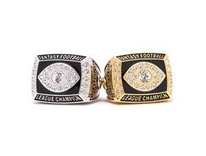 Fantasy Football Rings in Gold and Silver