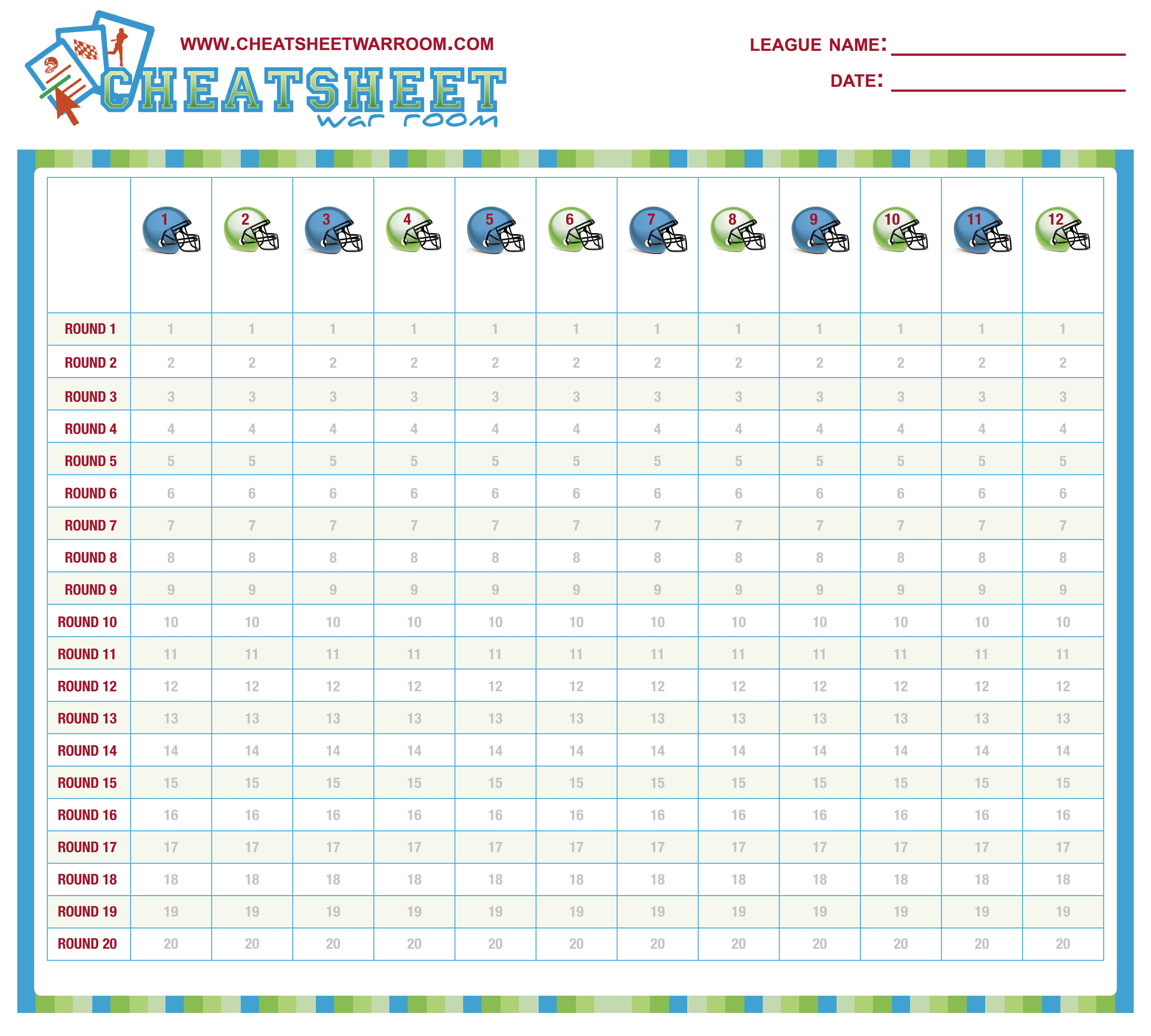 Obsessed image pertaining to fantasy football printable draft board
