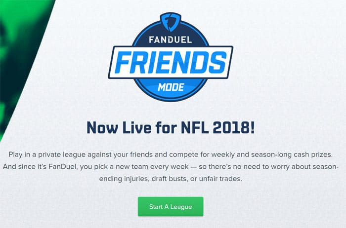 Fanduel Leagues - Friends Mode