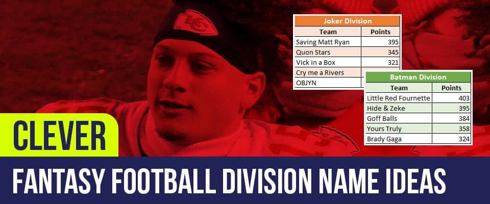 Fantasy Football Division Names