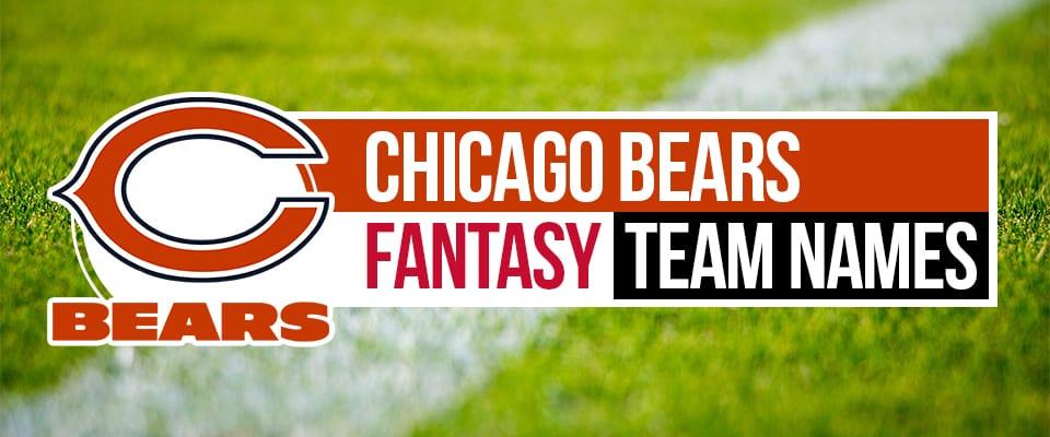 Chicago Bears Fantasy Football Team Names