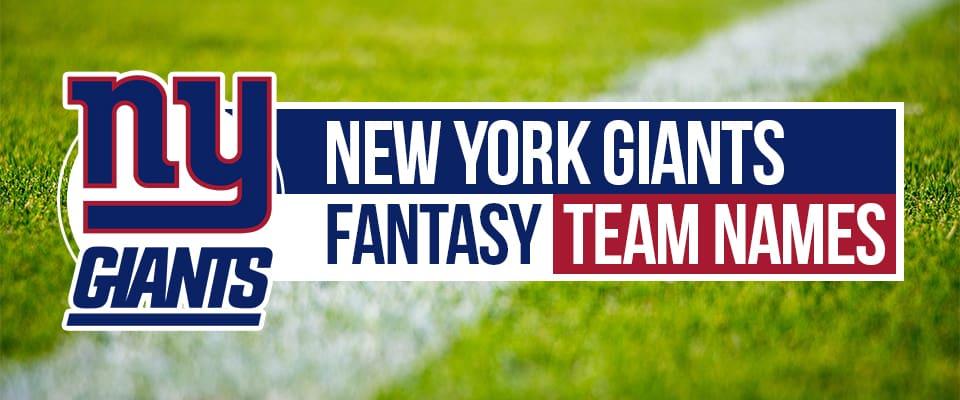 Giants Fantasy Football Team Names