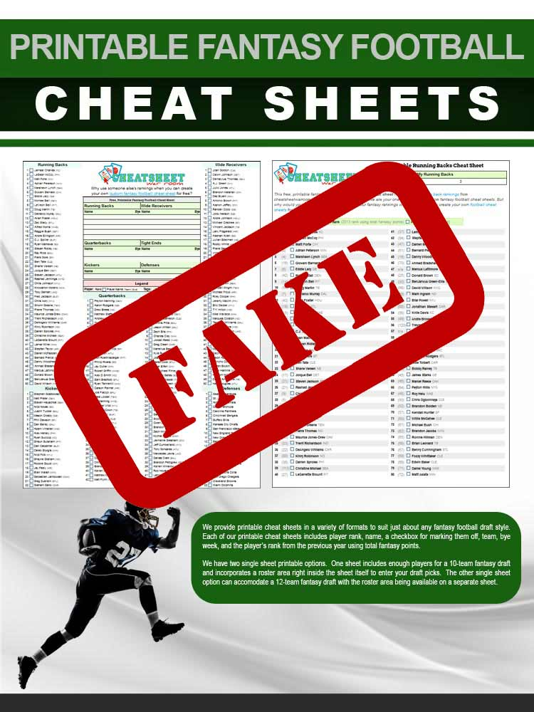 photograph about Fantasy Football Cheat Sheet by Position Printable titled Deliver a Bogus Myth Soccer Cheat Sheet