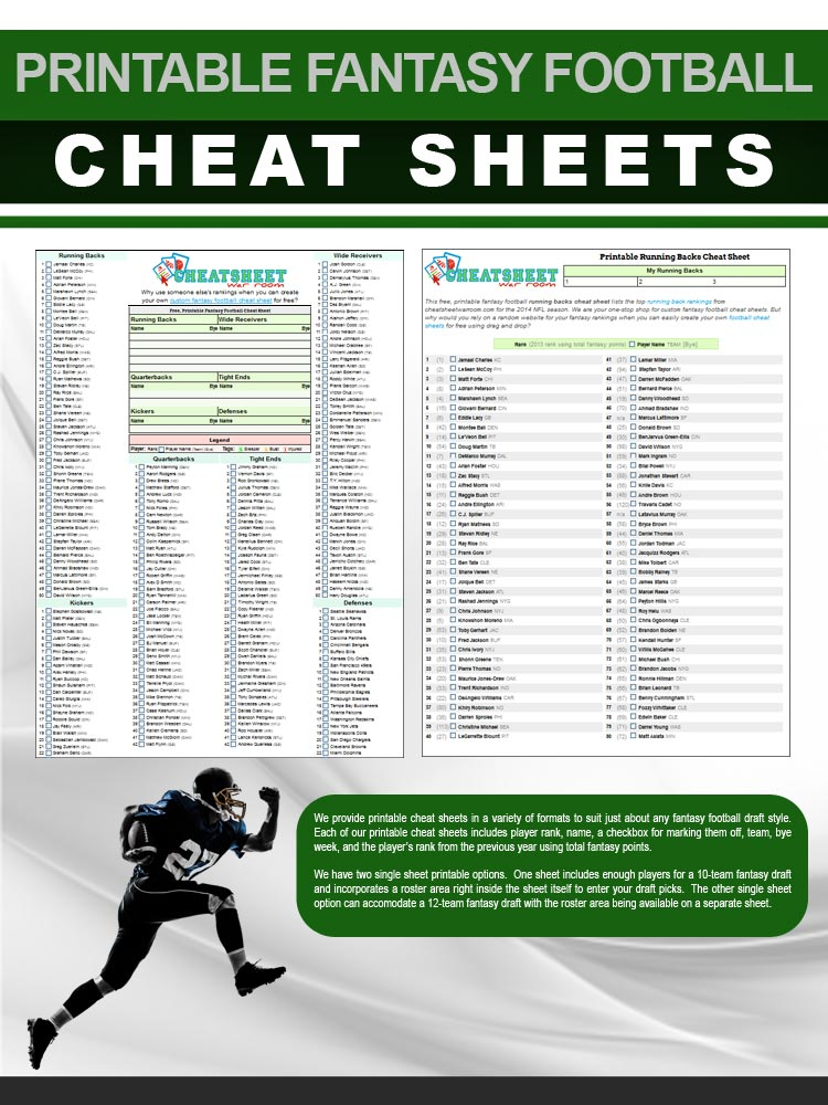 It is an image of Candid Printable Fantasy Football Cheat Sheet